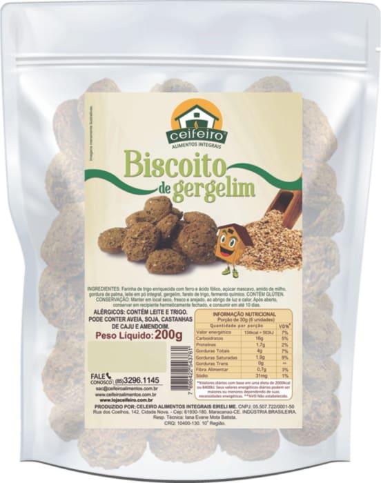 BISCOITO DE GERGELIM - 200g  - saco pouch