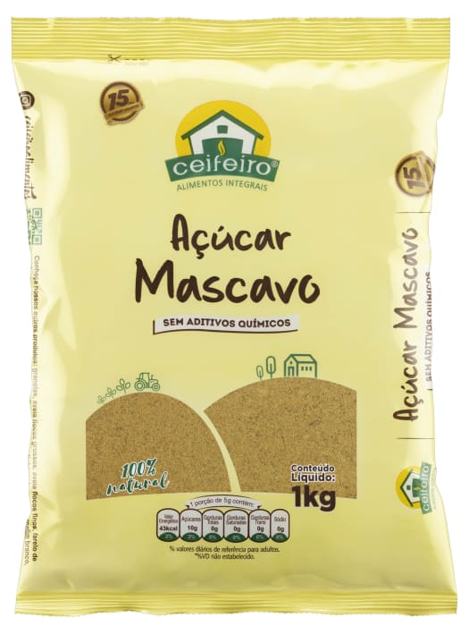 Açúcar Mascavo Ceifeiro 1kg -